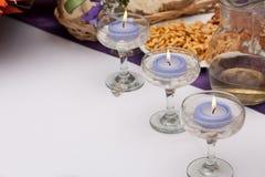 De Kaarsen van het huwelijk Stock Foto's