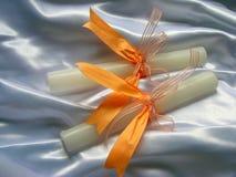 De Kaarsen van het huwelijk Stock Foto
