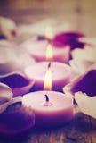 De Kaarsen van het KUUROORD Royalty-vrije Stock Afbeeldingen