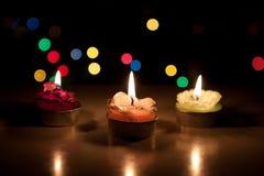 De kaarsen van het nieuwjaar Stock Afbeeldingen