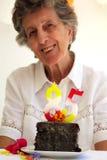 De kaarsen van het verjaardagsaantal Royalty-vrije Stock Foto's