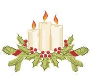 De kaarsen van Kerstmis vector illustratie