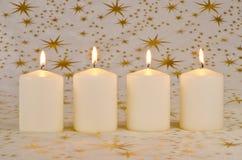 De Kaarsen van Kerstmis Stock Foto