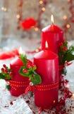 De kaarsen van Kerstmis Royalty-vrije Stock Afbeeldingen