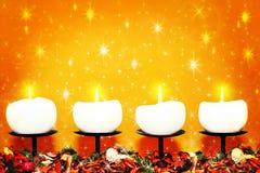 De kaarsen van Kerstmis Royalty-vrije Stock Fotografie