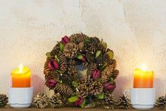 De kaarsen van Kerstmis Stock Foto's