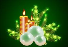 De kaarsen van de Kerstmisvakantie Stock Afbeelding