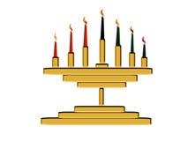 De Kaarsen van Kwanzaa vector illustratie
