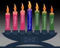 De kaarsen van Kwanzaa stock illustratie