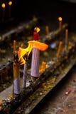 De Kaarsen van Lanna Stock Fotografie