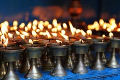 De kaarsen van lit Royalty-vrije Stock Foto