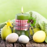 De kaarsen van Pasen Stock Foto