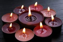 De Kaarsen van Tealight Royalty-vrije Stock Afbeelding