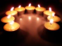 De Kaarsen van Tealight stock foto