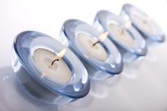 De kaarsen van Tealight stock afbeelding