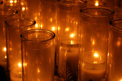 De Kaarsen van Votice Stock Foto