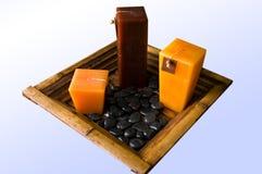 De kaarsen van Zen Royalty-vrije Stock Afbeelding