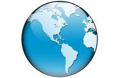 De kaart Amerika van de wereld Stock Afbeelding