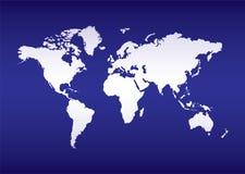 De kaart blauwe oceaan van de wereld stock illustratie