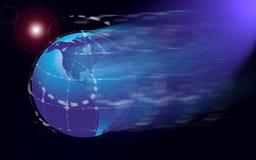 De kaart of de bol van de wereld Stock Foto's