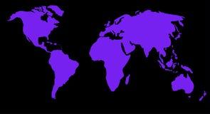 De kaart of de bol van de wereld Stock Afbeeldingen
