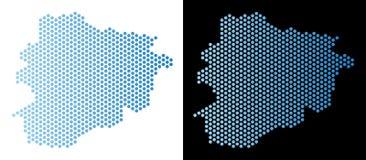 De Kaart Hexagon Mozaïek van Andorra royalty-vrije illustratie