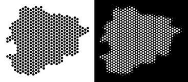 De Kaart Hexagon Mozaïek van Andorra stock illustratie