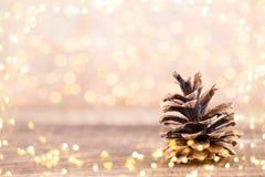 De kaart houten achtergrond van de Kerstmisgroet stock foto's