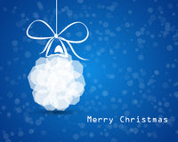 De kaart huwt Kerstmis Stock Foto
