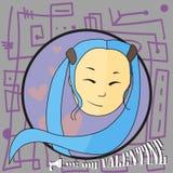 De kaart is mijn valentijnskaart Royalty-vrije Stock Fotografie