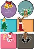 De Kaart Set_eps van het Karakter van Kerstmis Stock Afbeeldingen