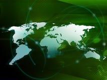 De kaart technologie-stijl van de wereld Stock Fotografie