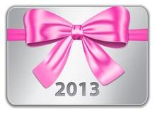 de kaart van 2013 met roze boog Stock Fotografie
