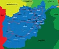 De kaart van Afghanistan Stock Foto's