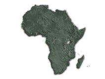 De kaart van Afrika Royalty-vrije Stock Fotografie