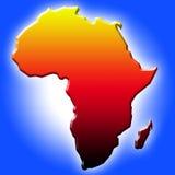 De kaart van Afrika Stock Afbeelding