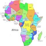 De kaart van Afrika Royalty-vrije Stock Foto's