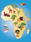 De kaart van Afrika stock illustratie
