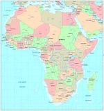 De kaart van Afrika Stock Foto's