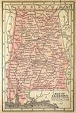 De kaart van Alabama Royalty-vrije Stock Afbeeldingen