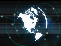 De kaart van Amerika Stock Afbeelding