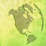 De kaart van Amerika Royalty-vrije Stock Afbeeldingen
