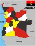 De Kaart van Angola Stock Foto's