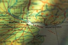 De kaart van Argentinië - Buenos aires Stock Afbeelding