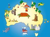 De kaart van Australië Stock Fotografie