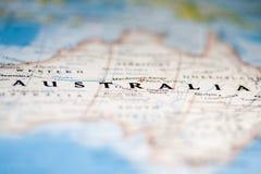 De Kaart van Australië Stock Afbeelding