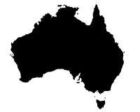 De kaart van Australië Stock Foto's