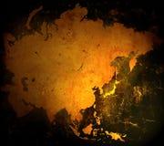 De kaart van Azië Royalty-vrije Stock Foto