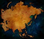 De kaart van Azië Royalty-vrije Stock Foto's
