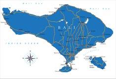 De kaart van Bali Royalty-vrije Stock Fotografie